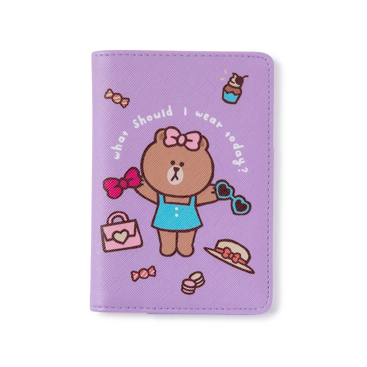 LINE FRIENDS CHOCO Passport Case Light Purple