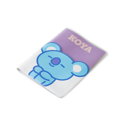 BT21 KOYA Colorful Clear Passport Case