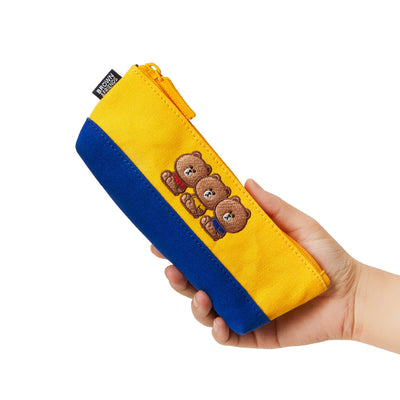 BROWN 20 University Pencil Case Yellow