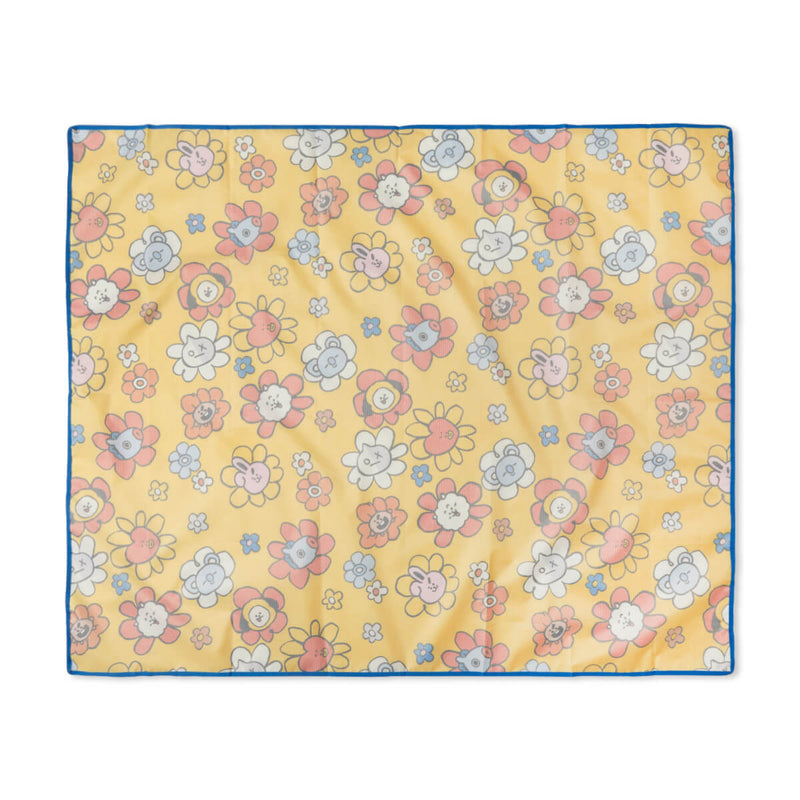 BT21 Flower Picnic Mat Yellow