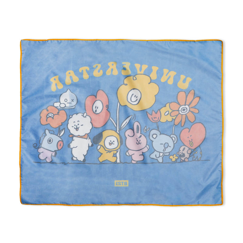 BT21 Flower Picnic Mat Blue