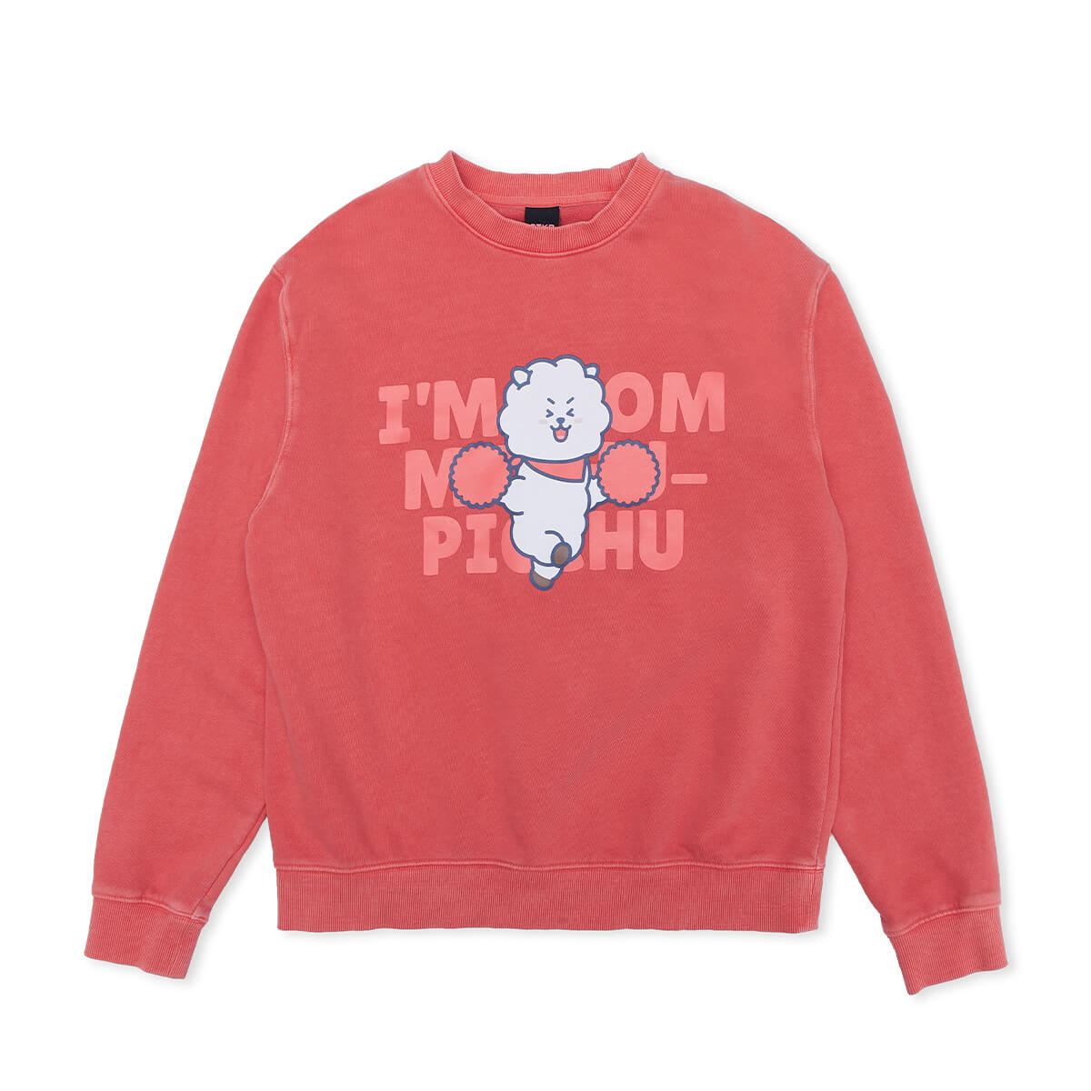 BT21 RJ Garment Dyed Sweatshirt Coral