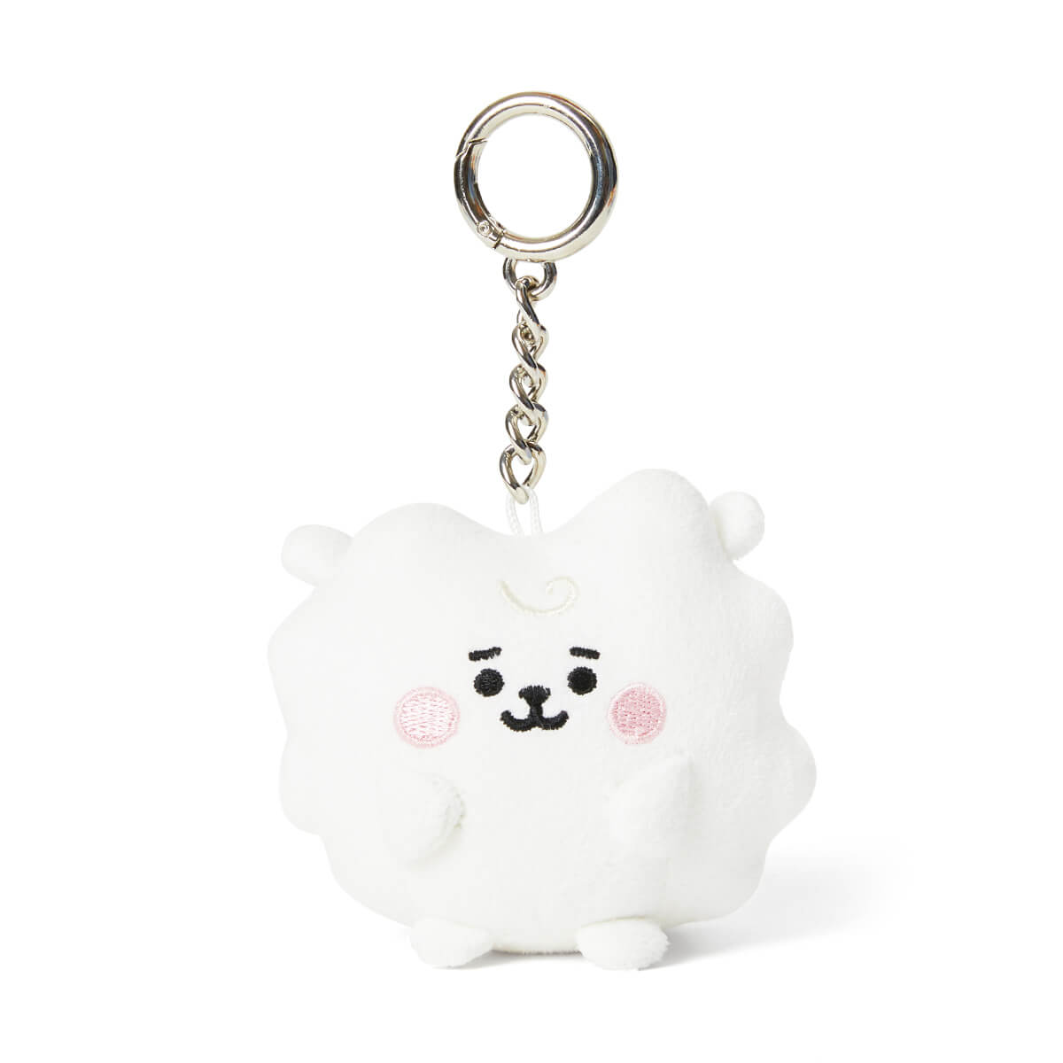 BT21 RJ BABY Pong Pong Faux Suede Bag Charm 2.7""