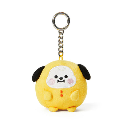 BT21 CHIMMY Baby Pong Pong Faux Suede Bag Charm 2.7""
