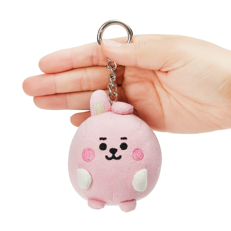 BT21 COOKY BABY Pong Pong Faux Suede Bag Charm 2.7""