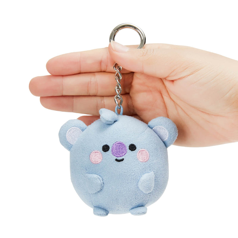 BT21 KOYA BABY Pong Pong Faux Suede Bag Charm 2.7""