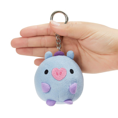 BT21 MANG BABY Pong Pong Faux Suede Bag Charm 2.7""