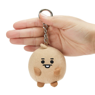 BT21 SHOOKY BABY Pong Pong Faux Suede Bag Charm 2.7""