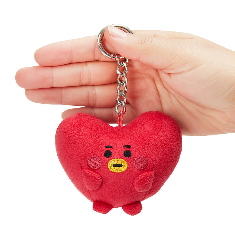 BT21 TATA BABY Pong Pong Faux Suede Bag Charm 2.7""