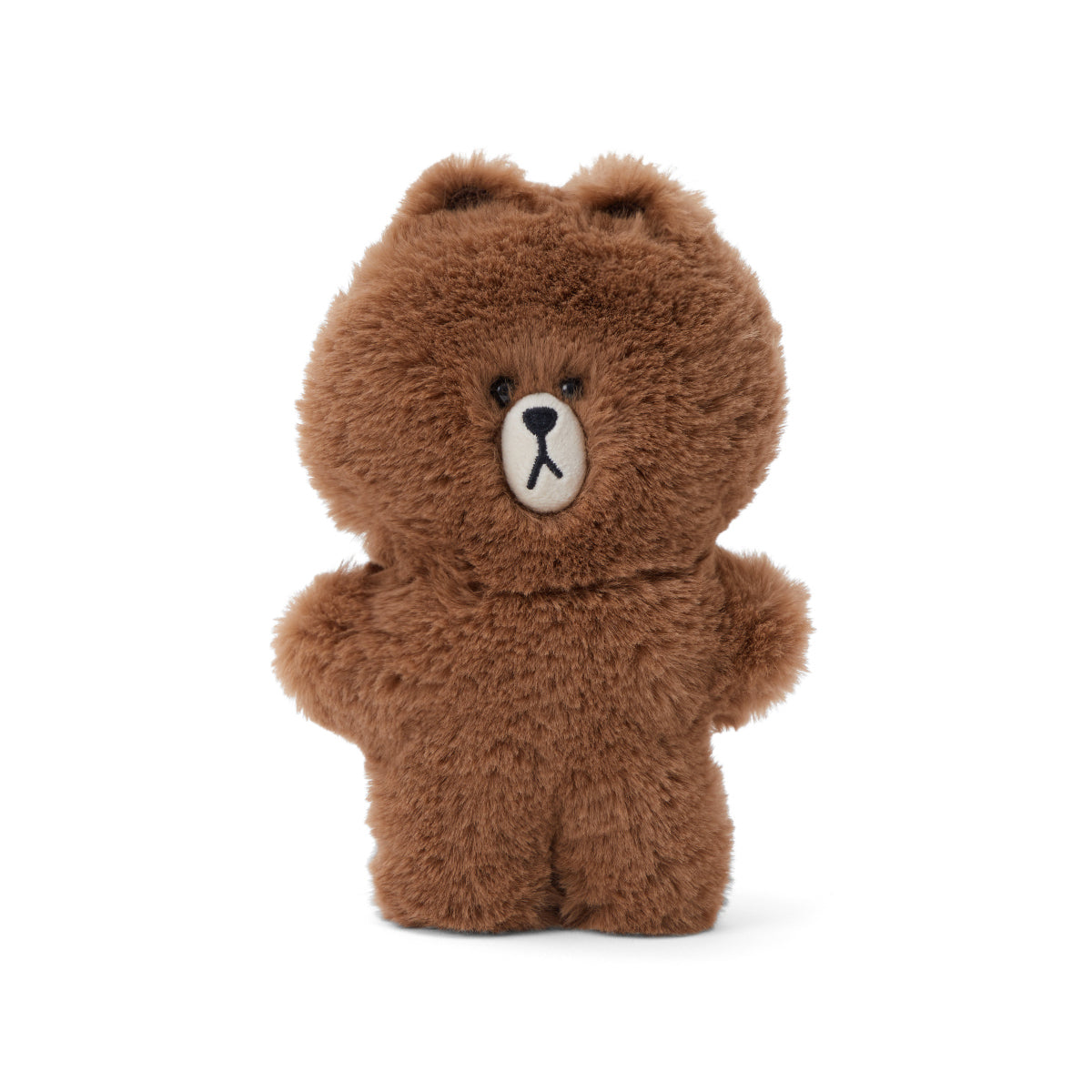 LINE FRIENDS BROWN Flat Fur Mini Pouch