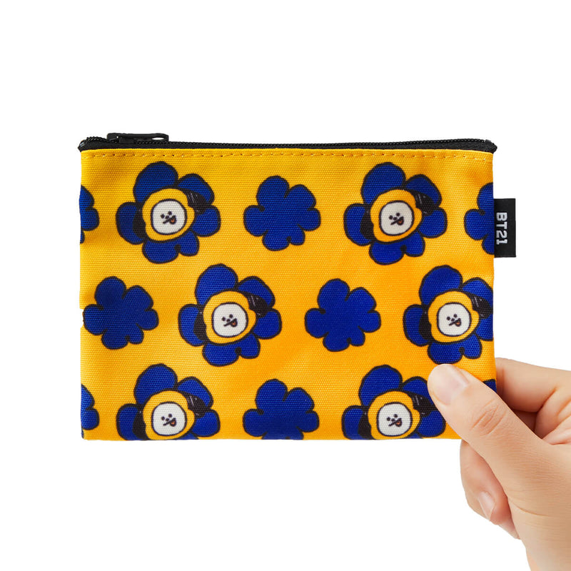 BT21 CHIMMY Flower Pattern Mini Pouch Dark Yellow