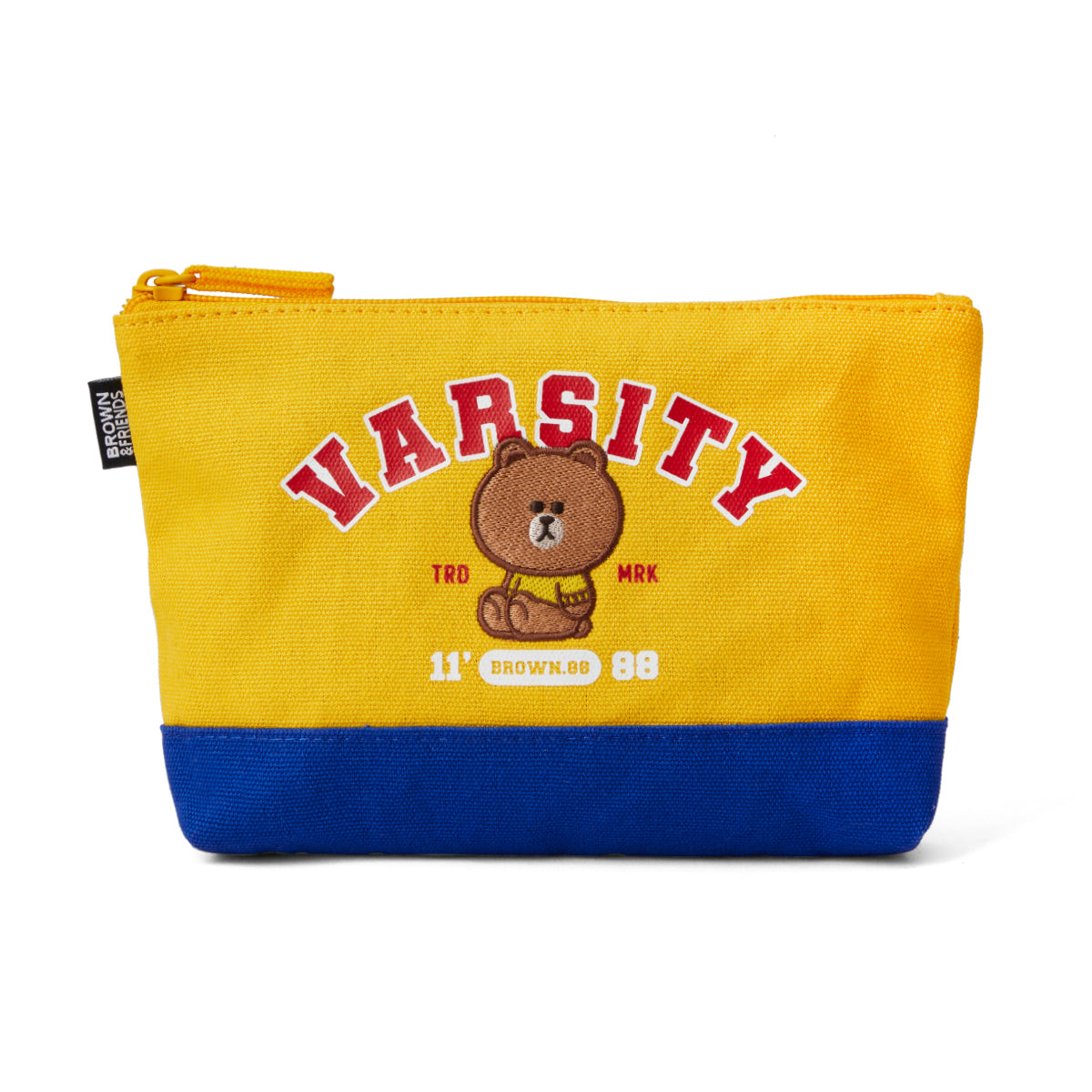 BROWN 20 University Slim Pouch Yellow