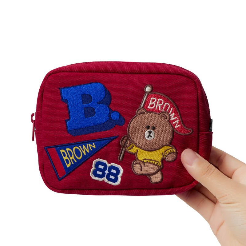 BROWN 20 University Multi Pouch Red (M)