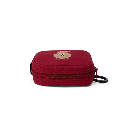 BROWN Keyring Multi Pouch Red (S)