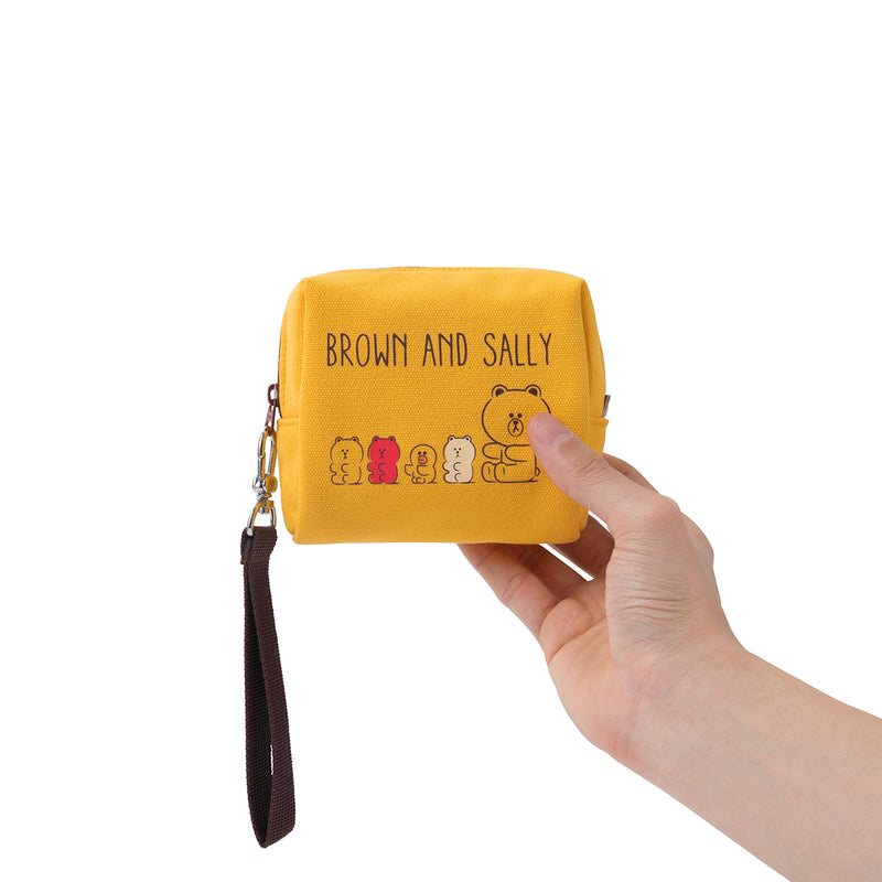 BROWN & FRIENDS Gummy Friends  Square Structure Pouch Yellow