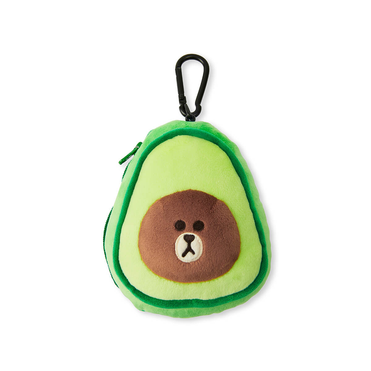 LINE FRIENDS BROWN Avocado Reel Pouch