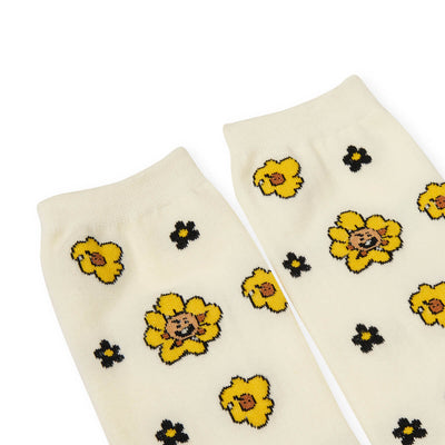 BT21 SHOOKY 20 FLOWER Mid Socks 2 PC Set