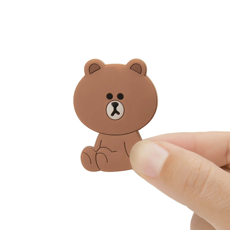 LINE FRIENDS BROWN Sitting Silicone Magnet