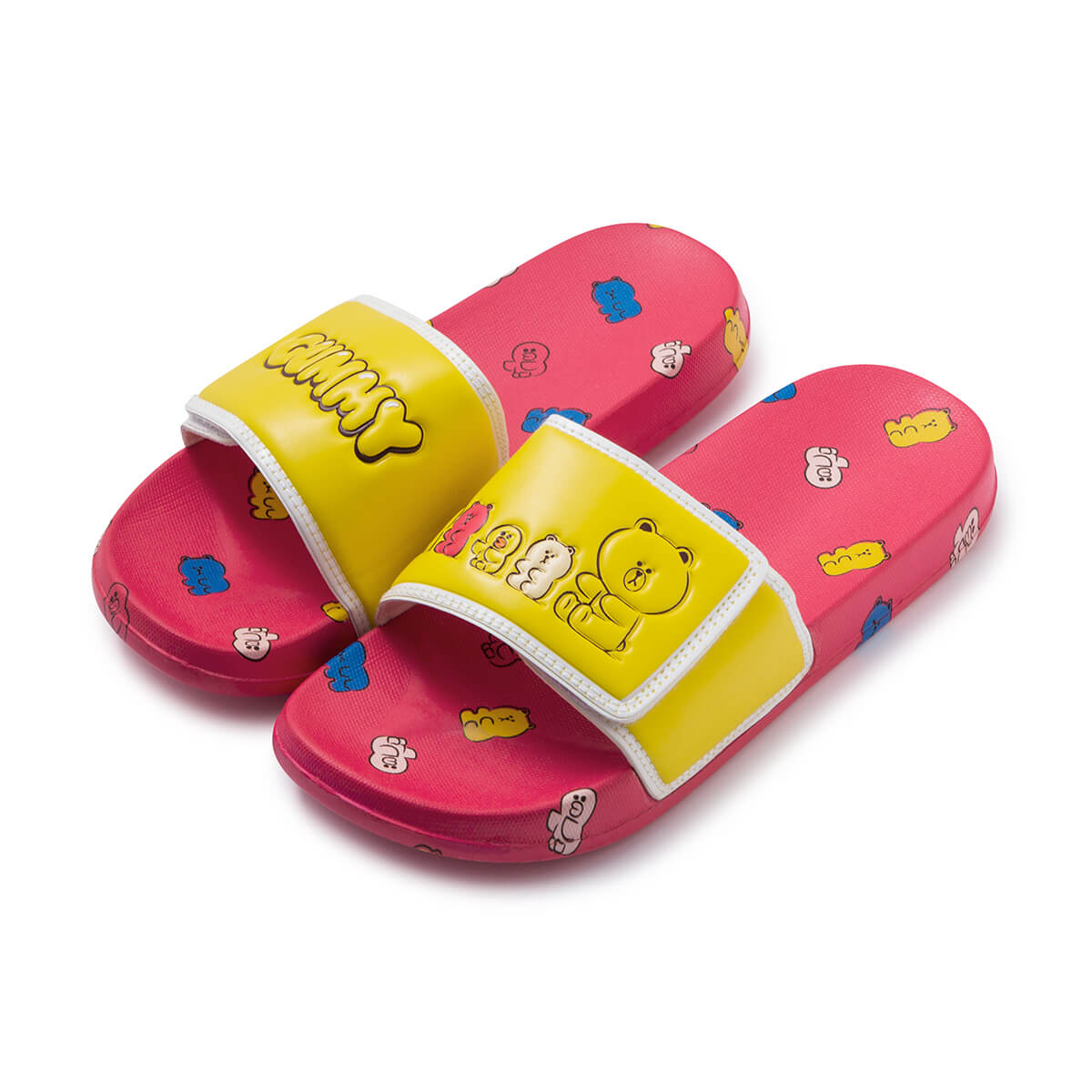 LINE FRIENDS BROWN & SALLY Velcro Slipper Red