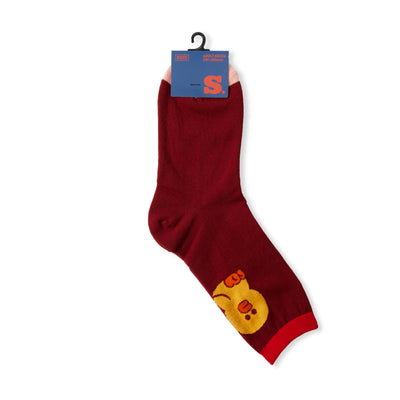 Sally University Color Block Adult Socks Red
