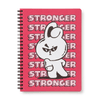 BT21 COOKY Music A5 Ruled Spiral Notebook