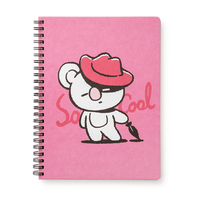 BT21 KOYA Music A5 Ruled Spiral Notebook