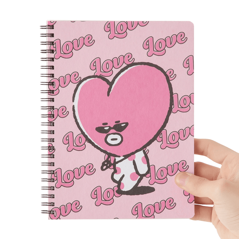 BT21 TATA Music A5 Ruled Spiral Notebook