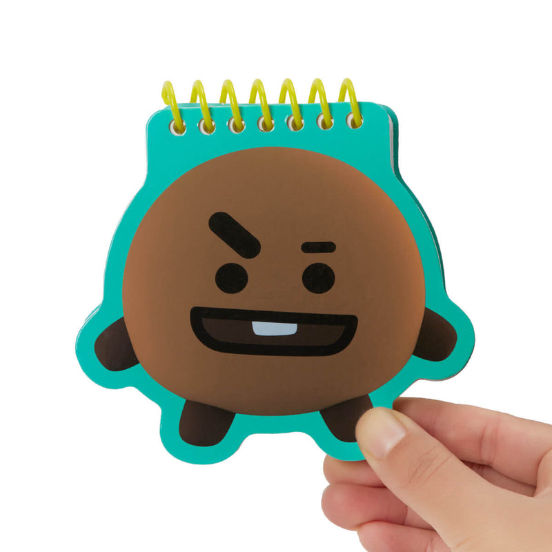 BT21 SHOOKY Face Mini Spiral Notepad
