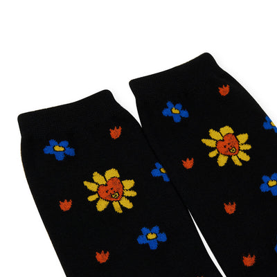 BT21 TATA 20 FLOWER Mid Socks 2 PC Set