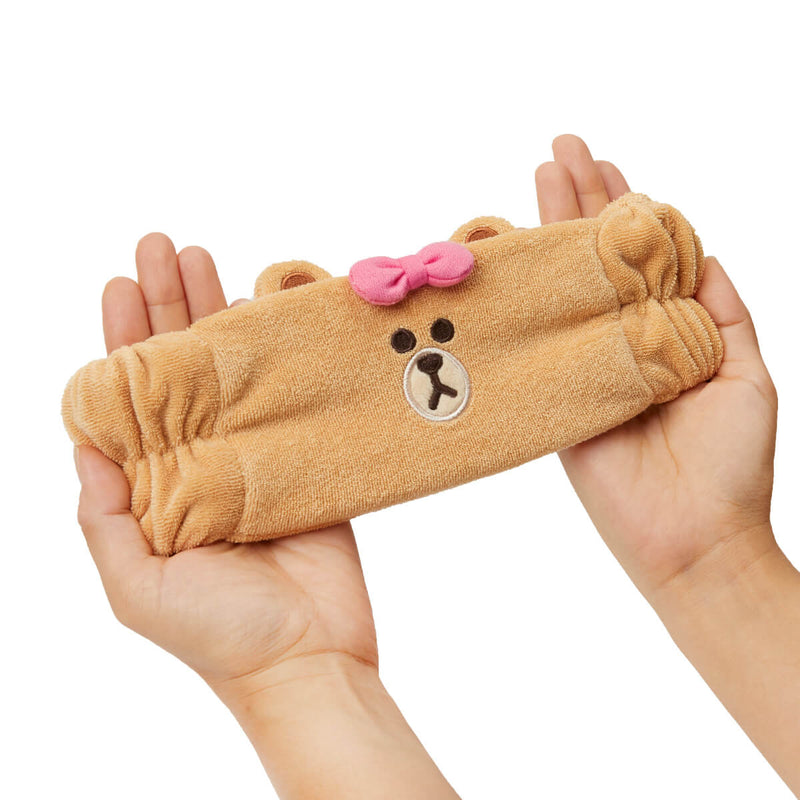 LINE FRIENDS CHOCO Microfiber Hair Band