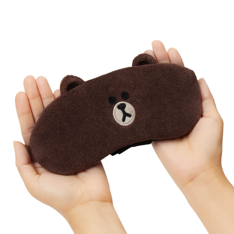 LINE FRIENDS BROWN Microfiber Sleeping Mask