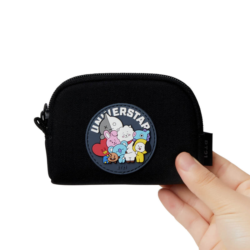 BT21 20 HEART CARD POUCH BLACK