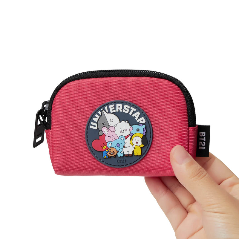 BT21 20 HEART CARD POUCH PINK