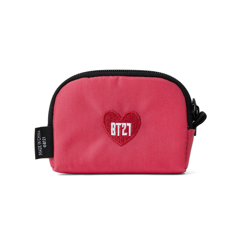BT21 HEART Card Pouch Pink