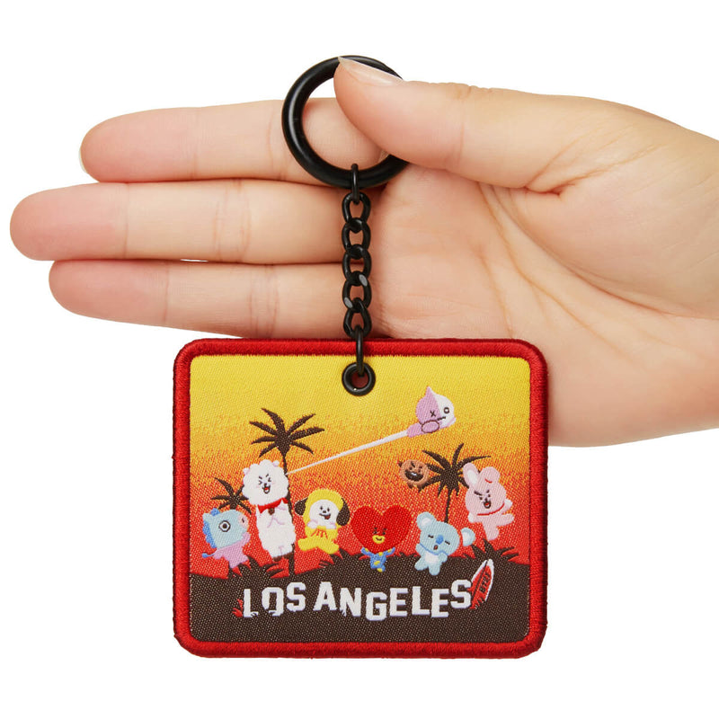 BT21 The City Edition: Los Angeles Embroidered Keyring
