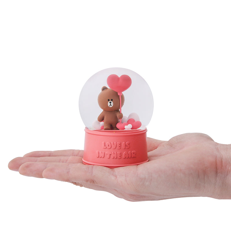 LINE FRIENDS BROWN Snow Water Globe Cute