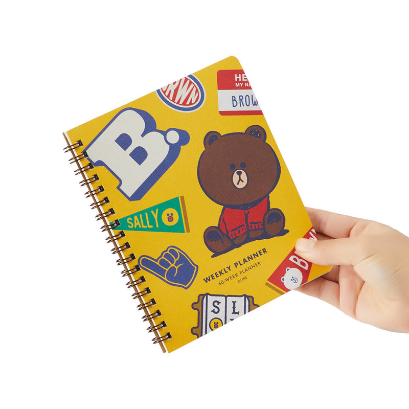 LINE FRIENDS BROWN & FRIENDS University Weekly Planner