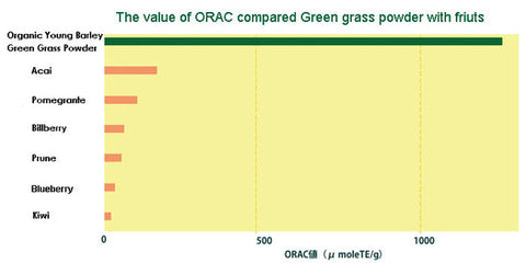 ORAC (Oxygen Radical Absorption Capacity) Value Chart