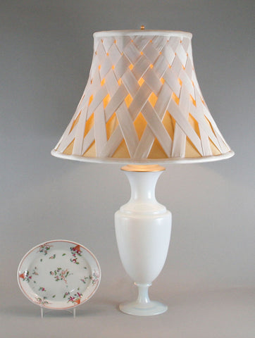 Crosshatched Silk Lamp Shade