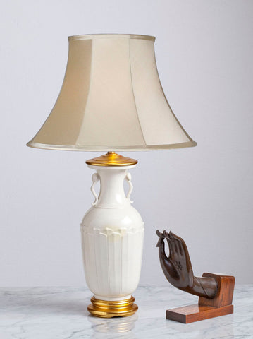 An Antique Chinese Lotus Petal Lamp In Blanc-de-Chine Style - Circa 1850