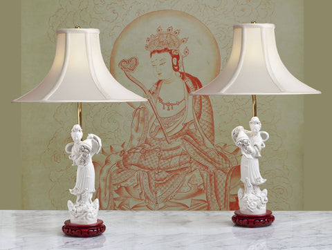 Pair of Blanc de Chine Lamps