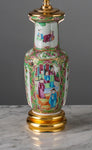 A062 A Very Fine Antique Chinese Rouleau Shaped Famille Rose Export Lamp - Circa 1850