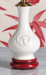 A078  A Diminutive Antique Chinese Blanc-de-Chine Export Accent Lamp - Circa 1900
