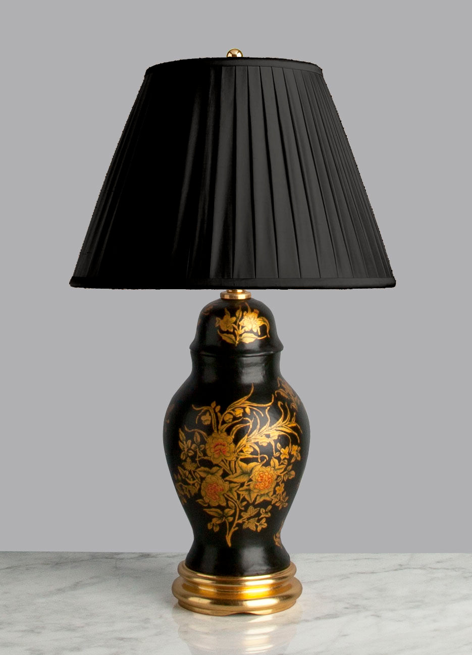 A081 A Rare English Edwardian Era Papier-Mâché  Accent Lamp - Circa 1910