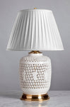 B001  An English Reticulated Blanc-de-Chine Lamp, The Eight Immortals - Circa 1950's