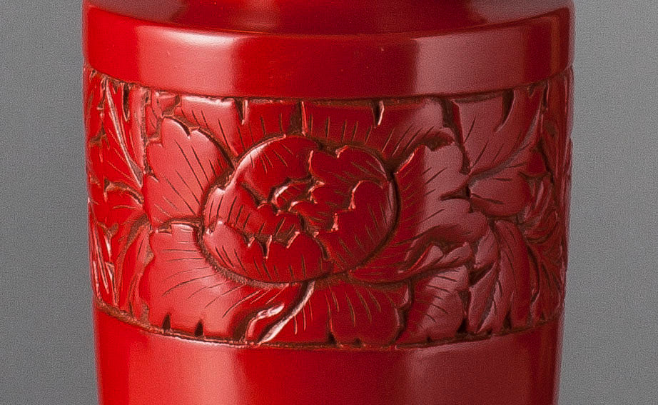 B004  A Smart Vintage Chinese Red Lacquer Art Deco Era Accent Lamp - Circa 1925