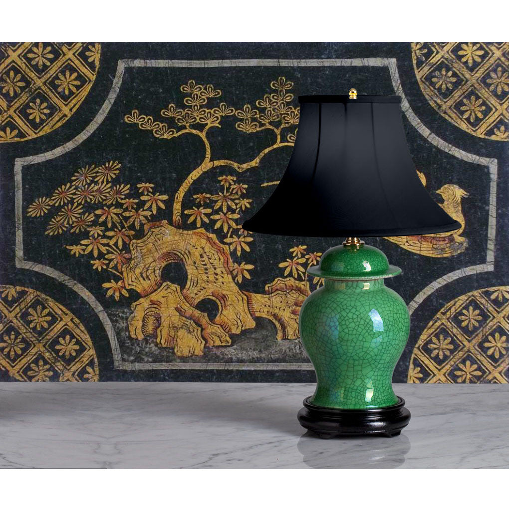 B005  A 19th Century, Chinese Export, Accent Lamp, Apple Green Glaze - Circa 1870