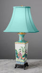 B063  An Early Chinese Republic Export, Square Shaped Accent Lamp - Circa 1920