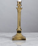B086 An English, Edwardian Era, Polished Brass, Candlestick Lamp - Circa 1905