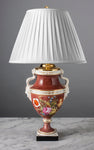 C014  An Antique Berlin Campana Shaped Porcelain Lamp - Circa 1840